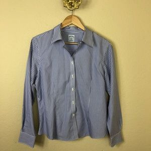 Euc Brooks Brothers striped fitted button down top